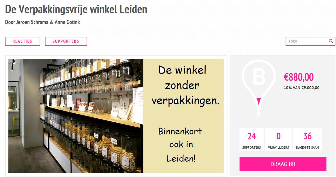 Verpakkingsvrije winkel Leiden