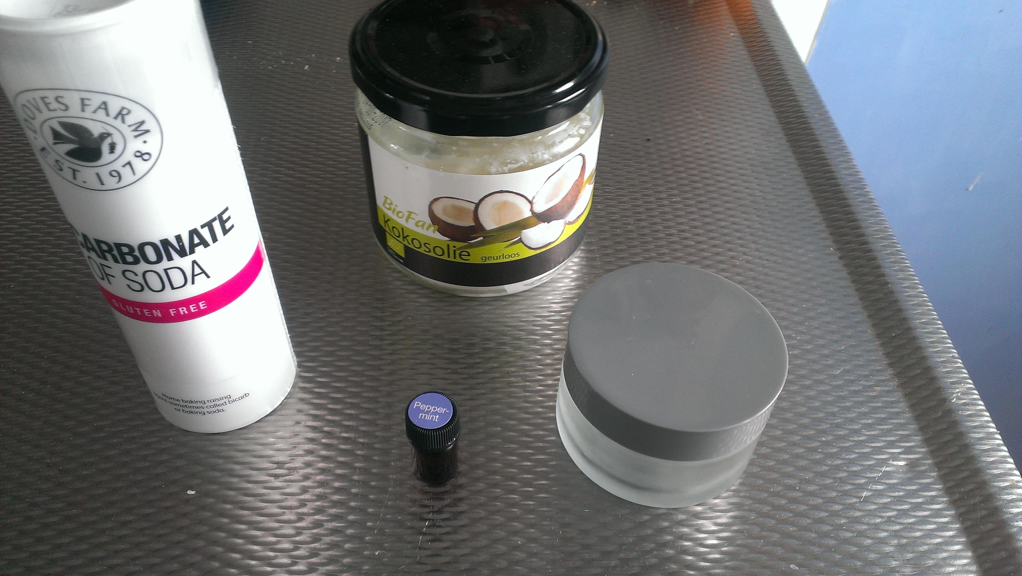 Tandpasta zelf maken ingrediënten