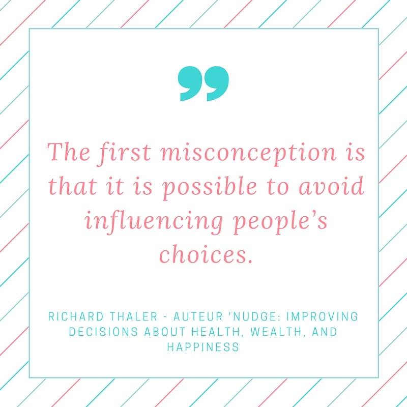 Quote nudging - Richard Thaler