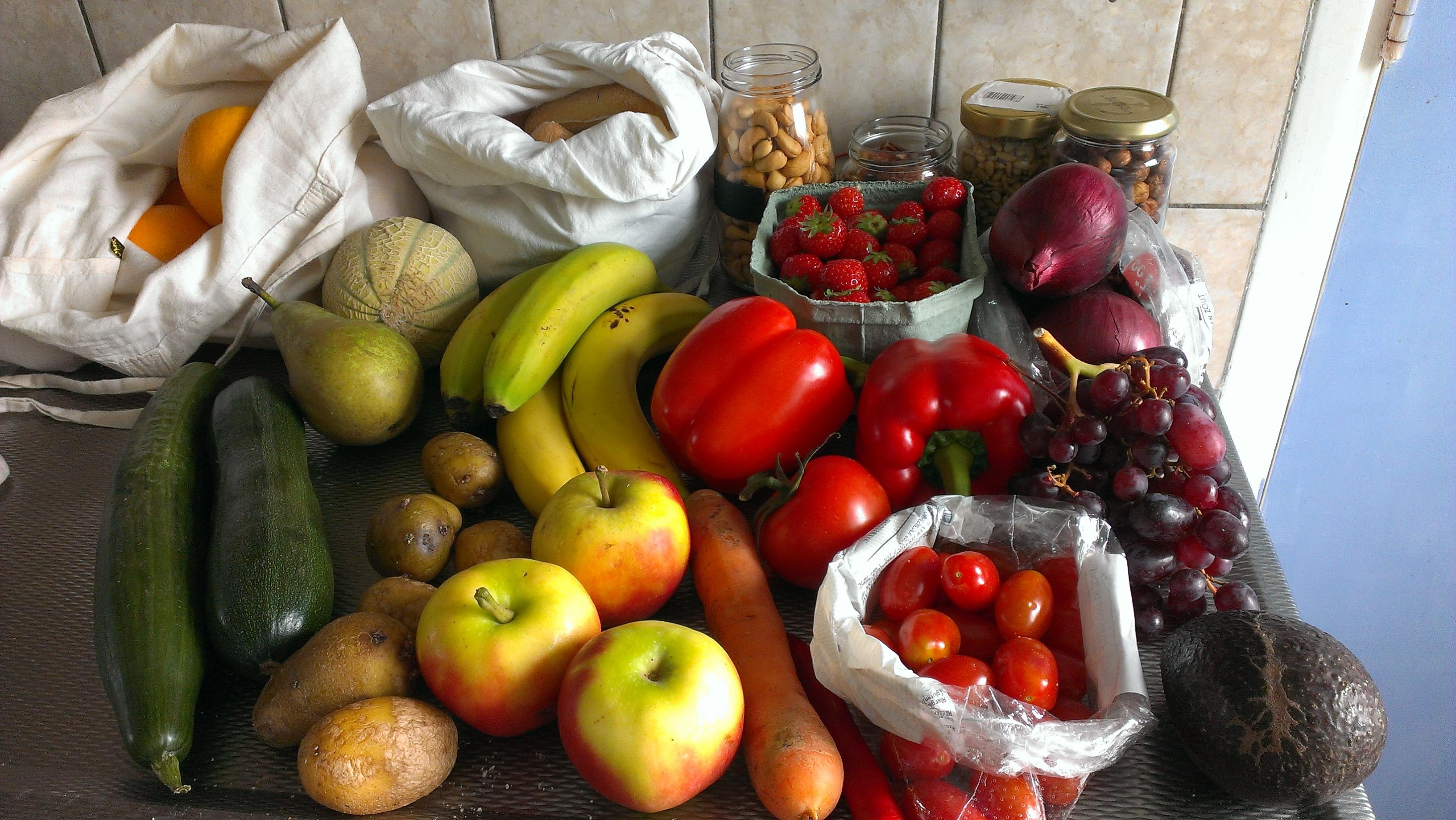 Verpakkingsvrij groente en fruit
